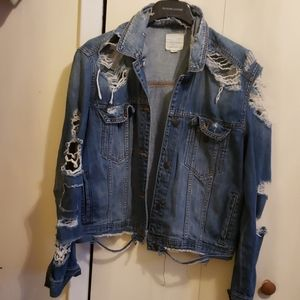 American Eagle Distressed Jeans Jacket